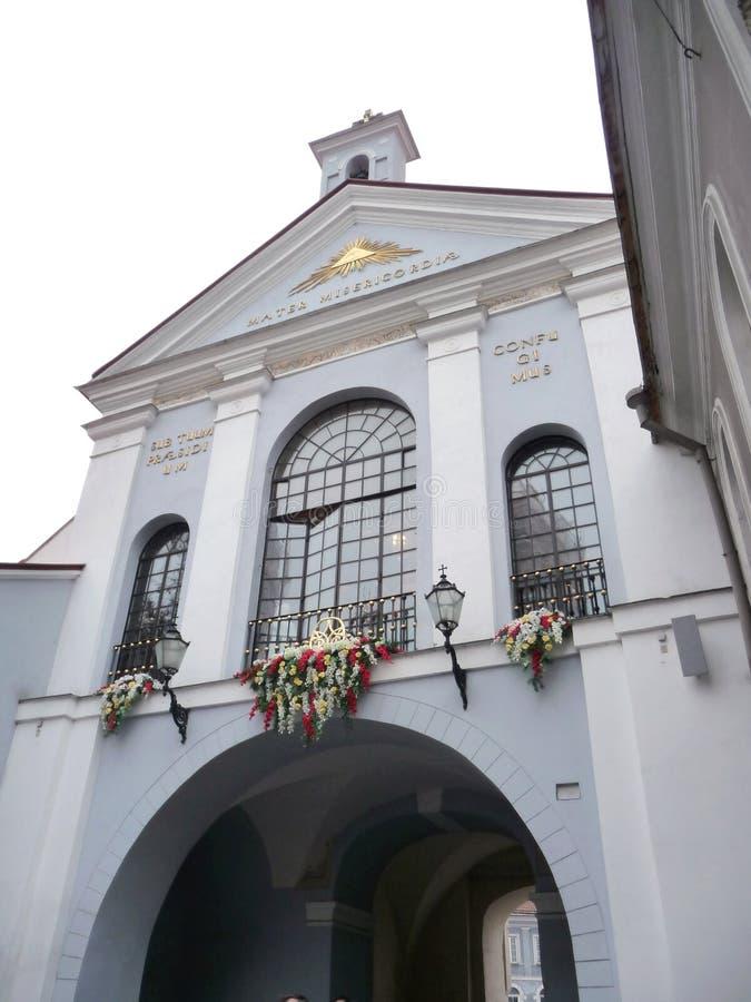 Poort van Dawn in Vilnius stock afbeelding