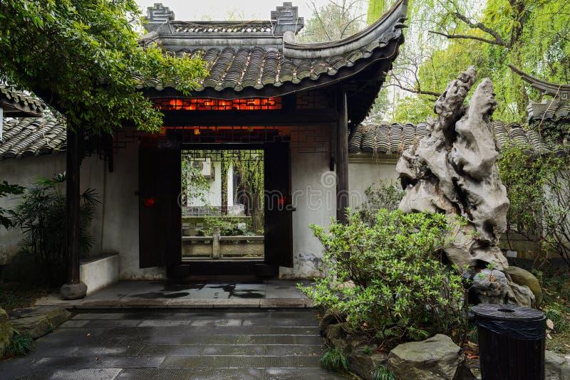 Poort van de Chinese oude bouw stock afbeelding