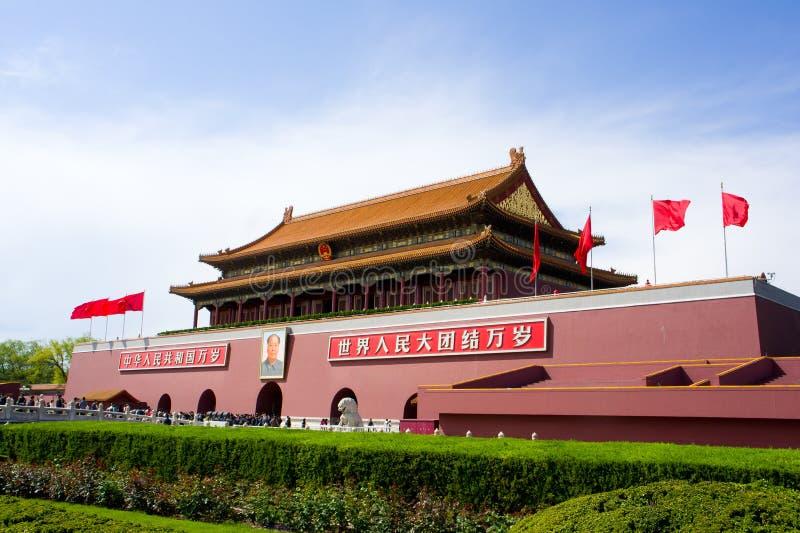 Poort van Hemelse Vrede (Tiananmen) stock afbeeldingen