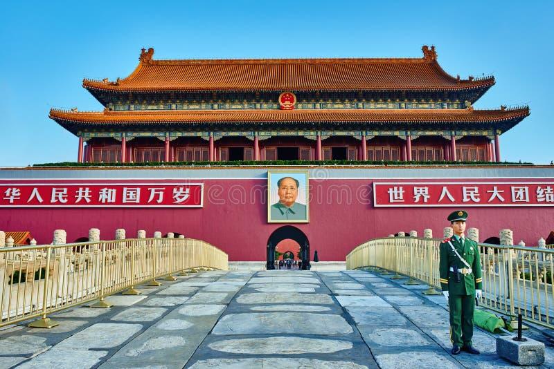 Poort van het Hemelse Verboden Vierkant van Vredestiananmen royalty-vrije stock afbeelding