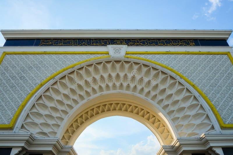 Poort van het Paleis van de Koninklijke Koning, Istana Negara stock foto