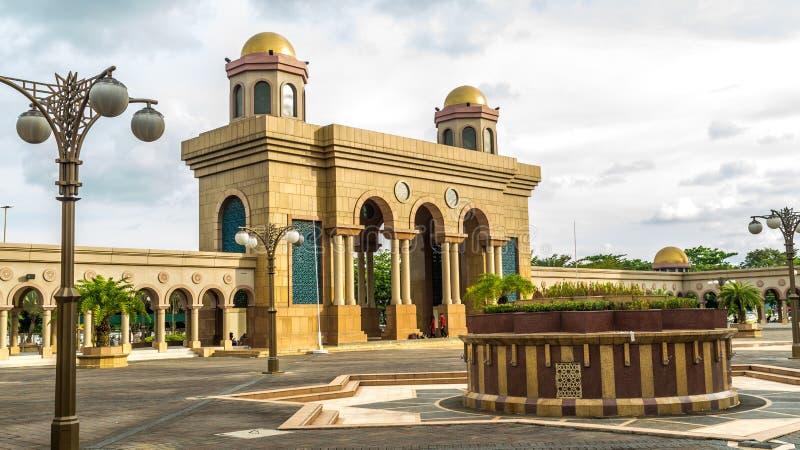 Poort van Islamitisch centrum van Samarinda stock foto
