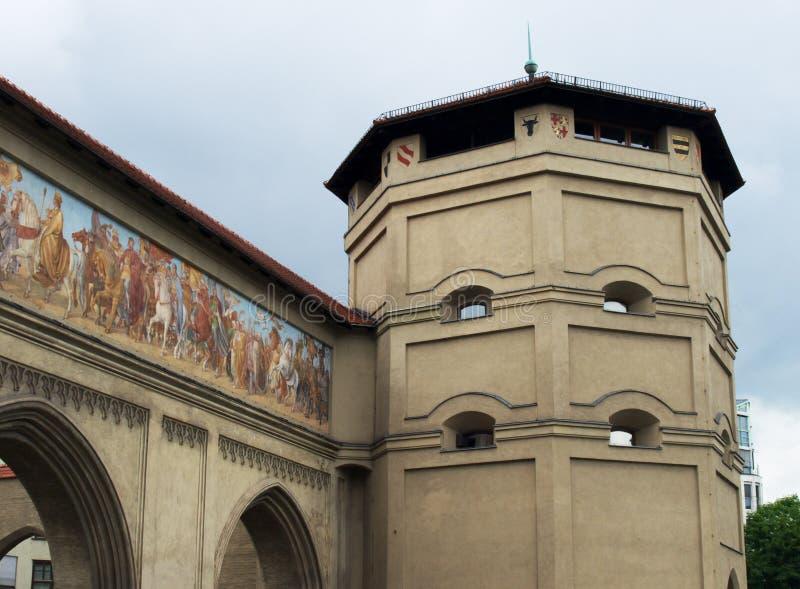 Poort van München royalty-vrije stock foto's