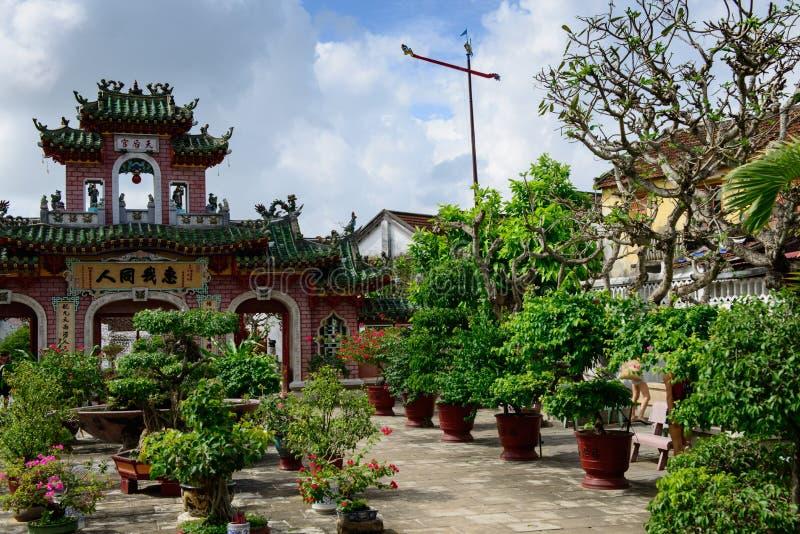 Poort van Montagehal, de Oude Stad van Hoian, Vietnam stock foto's