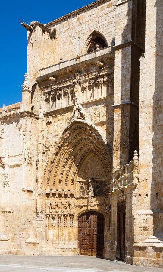Poort van Palencia Kathedraal royalty-vrije stock afbeeldingen