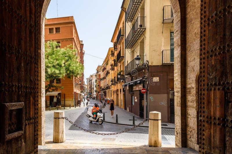Poort van Torres DE Quart In Valencia royalty-vrije stock afbeelding