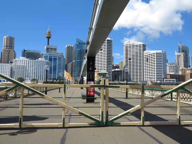 Poorten die op Pyrmont Brug, Sydney worden gesloten stock afbeelding