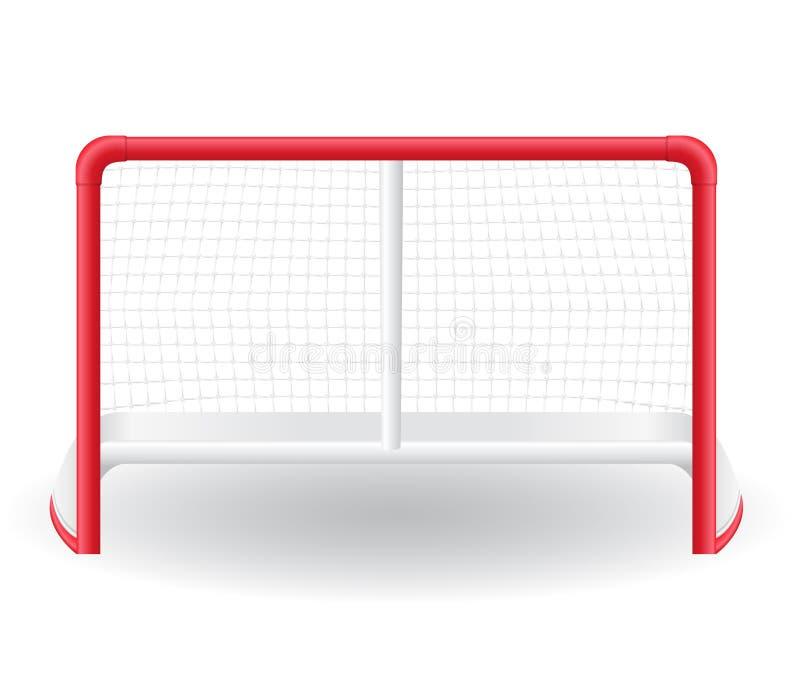 Poorten goalie voor het spel van hockeyvector illustr vector illustratie