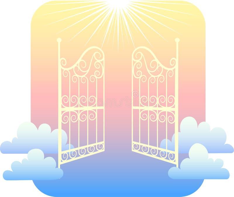 Poorten van Hemel/eps royalty-vrije illustratie