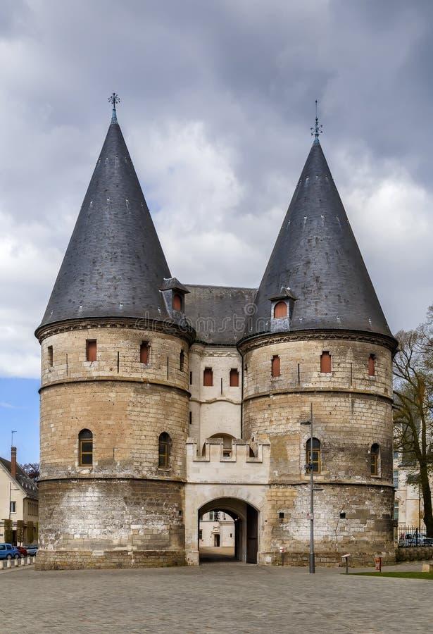 Poorten van het Bischop` s paleis, Beauvais, Frankrijk stock afbeelding