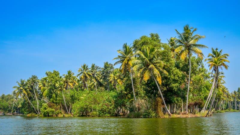 Poovar wyspa, Kerala, India obraz royalty free
