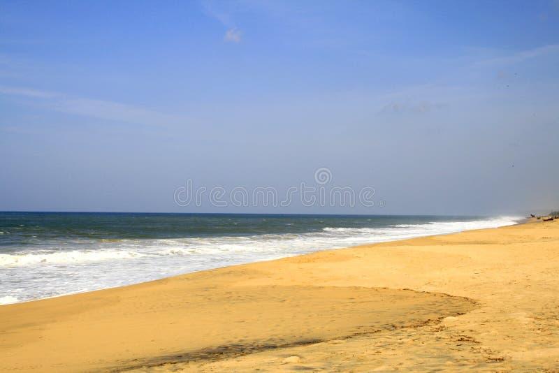 Poover Strand in Kerala, Indien lizenzfreie stockbilder