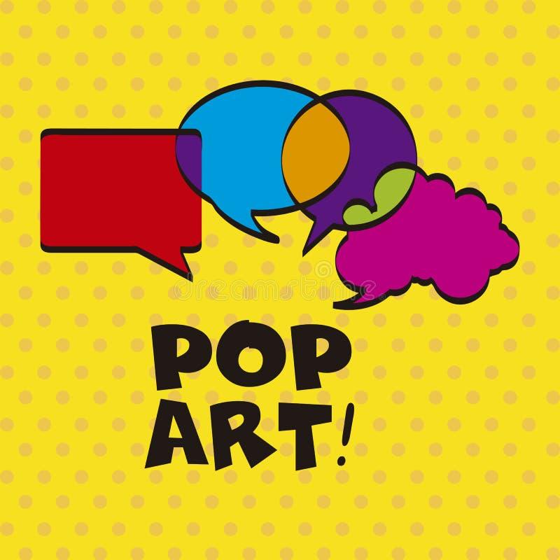 Pop-art stock illustratie