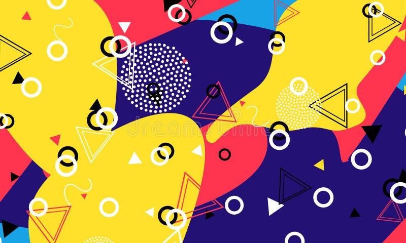 Pop art backdrop. Memphis pattern. Hipster style. vector illustration