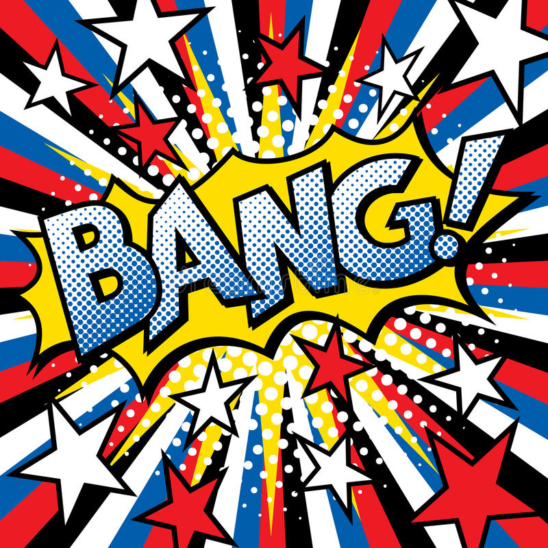 Pop Art BANG! Text Design royalty free illustration