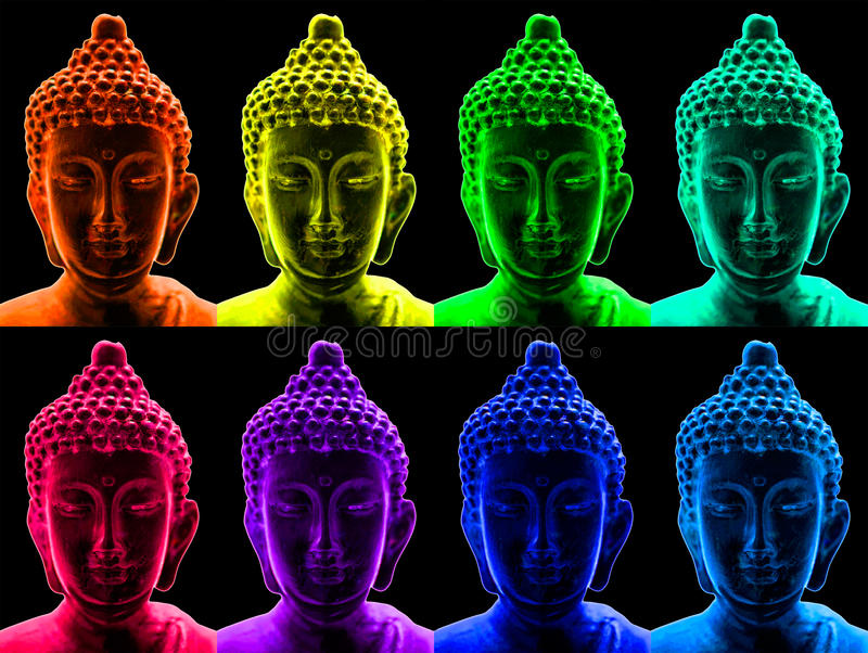 Pop Art Buddha Royalty Free Stock Images
