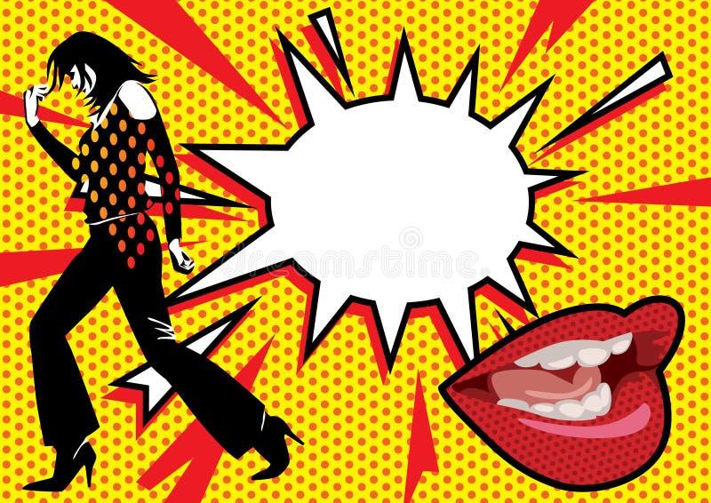 Download Pop Art Burst 2 stock vector. Image of kiss, lithograph - 14067965
