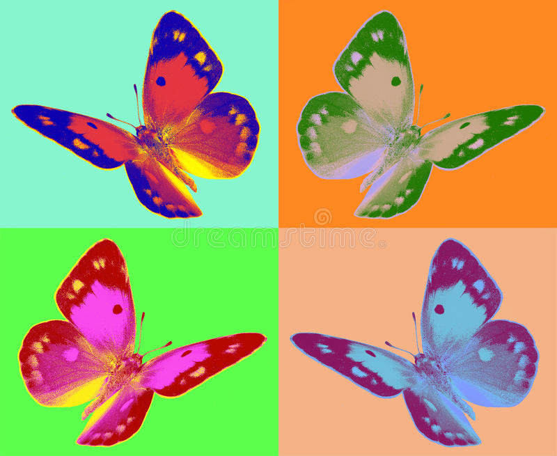 Pop-Art colias Schmetterling lizenzfreie stockfotografie