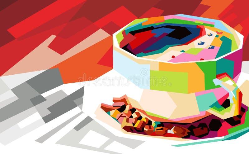 Pop art colorido do café ilustração royalty free