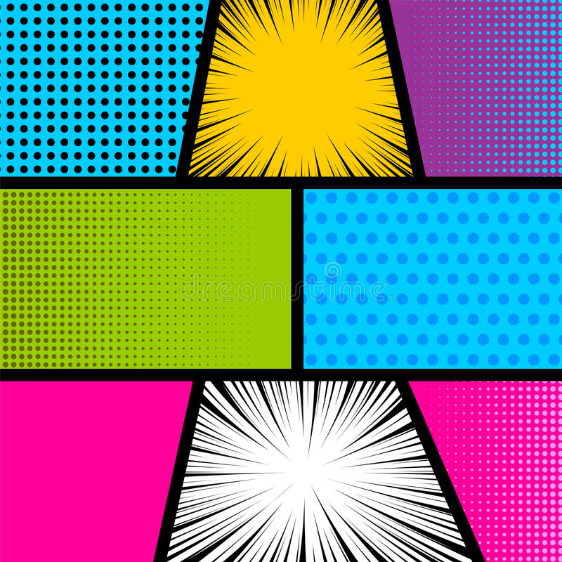 Comic Book Cover Background ~ Pop art comic book strip background stock vector