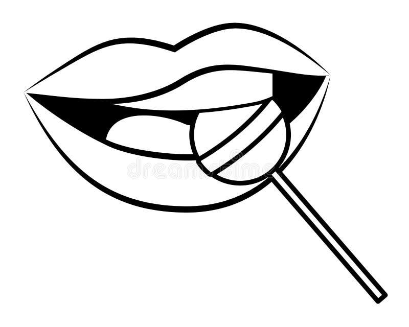 Pop Art Comic Lips Cartoon Stock Vector Illustration Of Chat 149105397