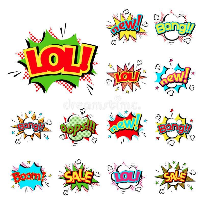 Download Pop Art Comic Speech Bubble Boom Effects Vector Explosion Bang Communication Cloud Fun Humor Illustration