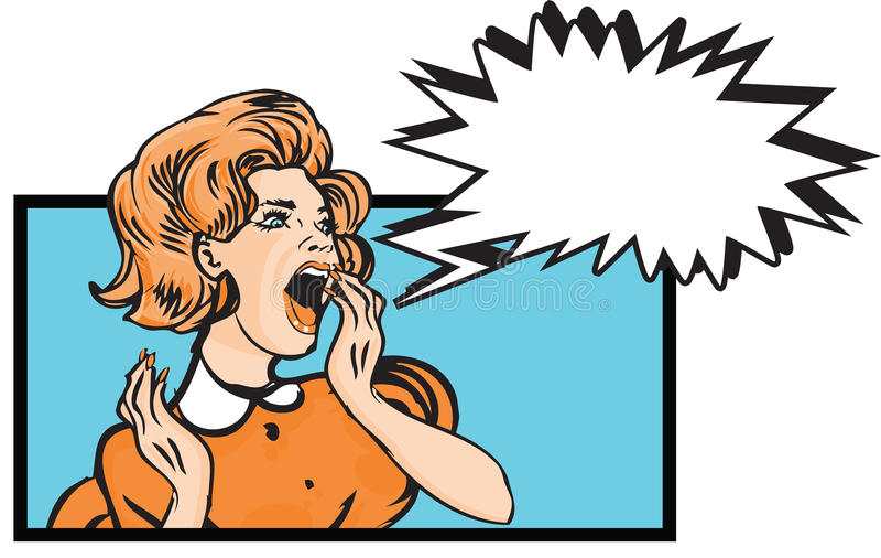 pop art comics scared woman retro clip art illustration stock rh dreamstime com