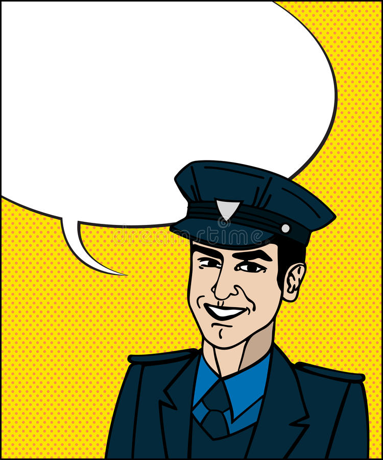 Pop Art Cop Stock Photos