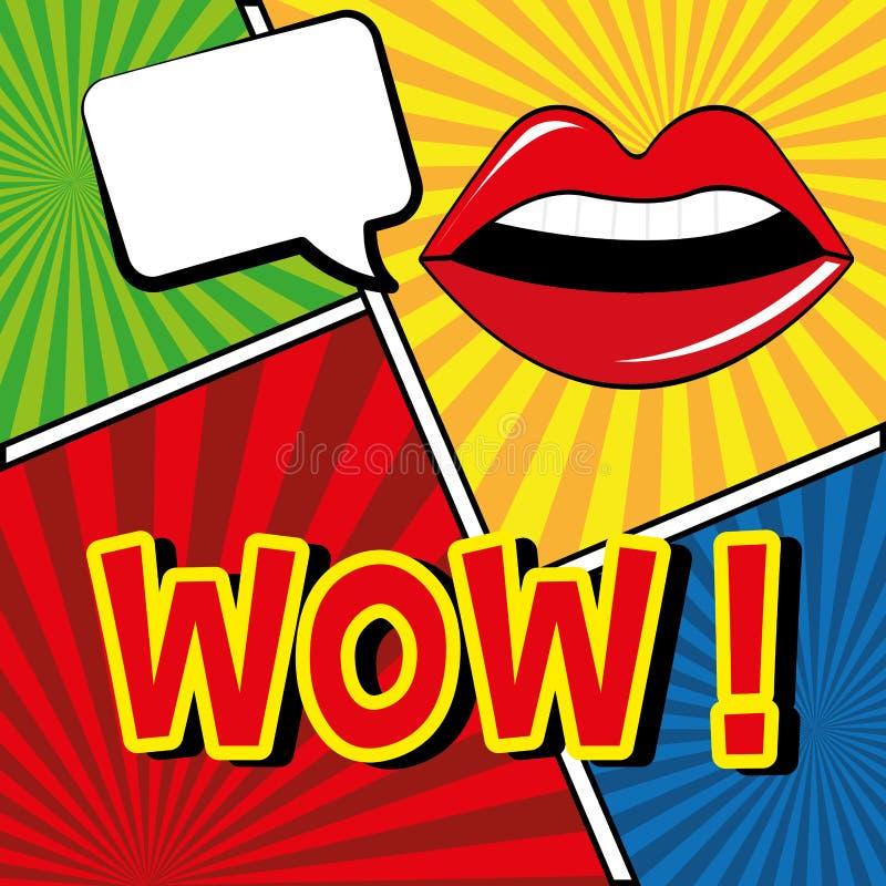 pop art design vector illustration stock vector illustration of lips humor 51214746. Black Bedroom Furniture Sets. Home Design Ideas