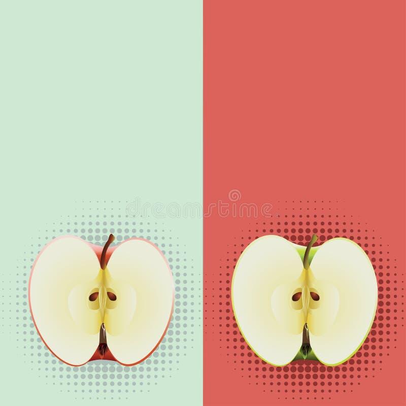 Pop art di metà delle mele royalty illustrazione gratis
