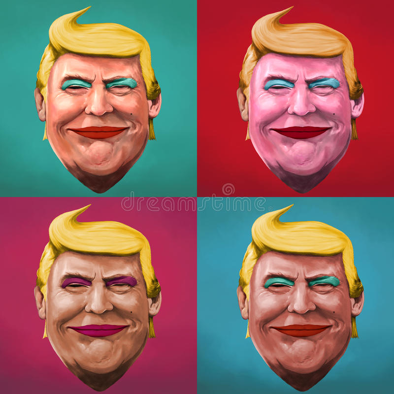 Pop Art Donald Trump-illustratie stock illustratie