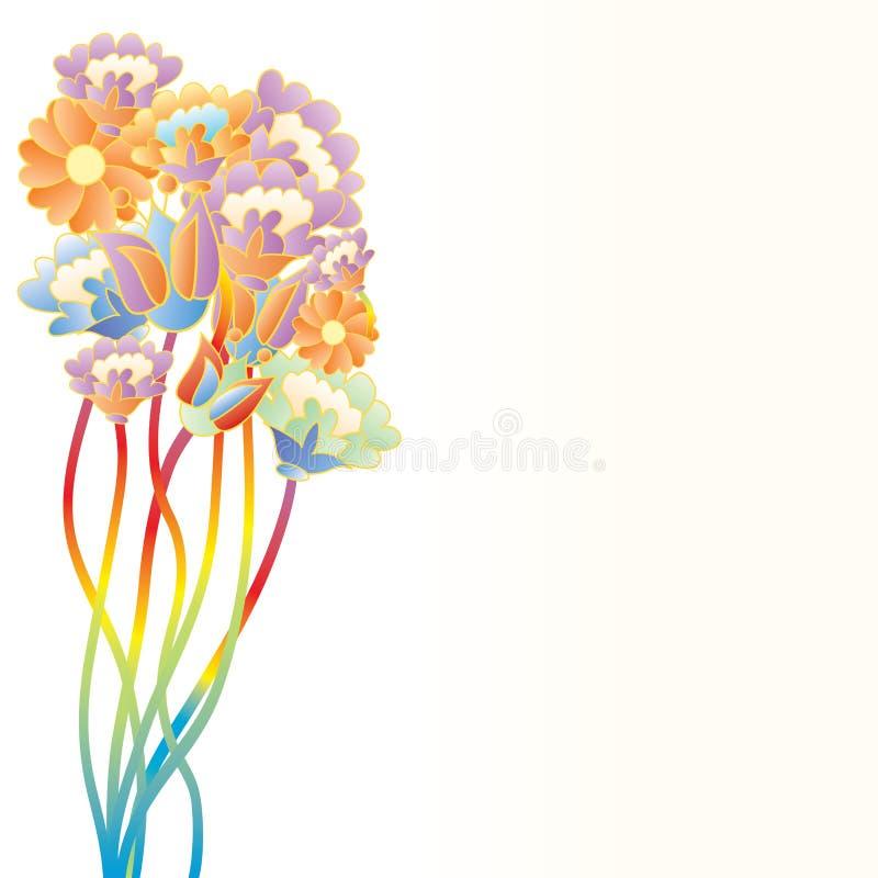 Download Pop art flowers stock vector. Image of rainbow, popular - 9628355