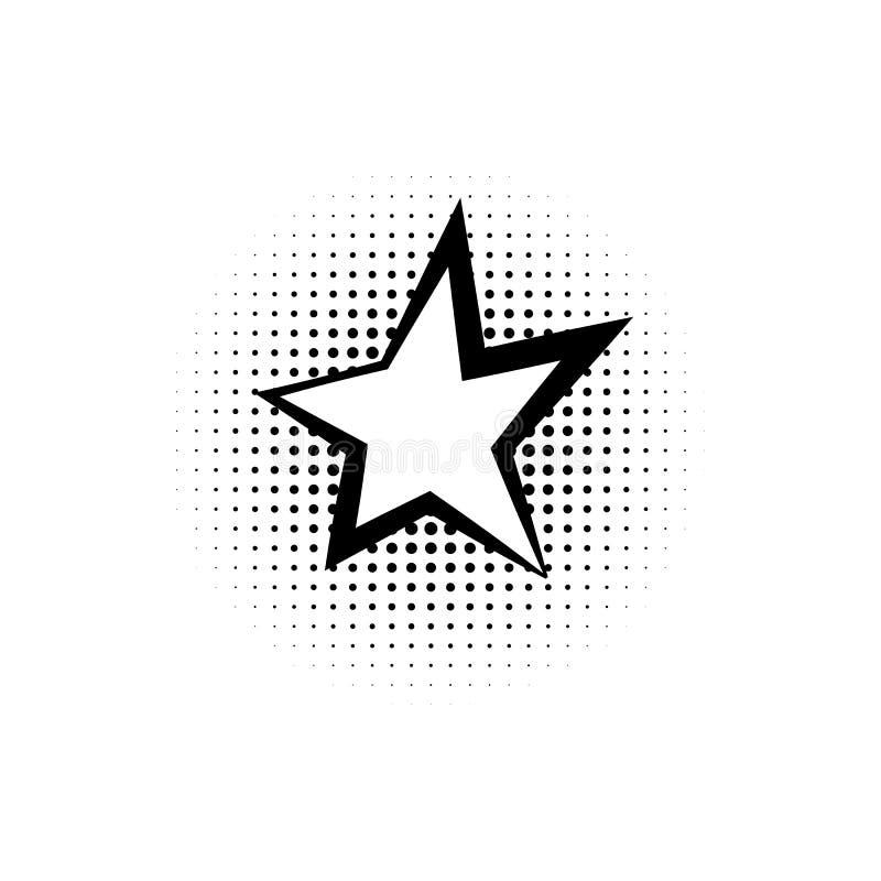 Pop art, fumetto, icona della stella Elemento dell'icona di stile di Pop art del fumetto CI Segni ed icona della raccolta di simb illustrazione vettoriale