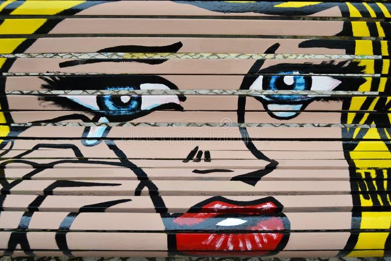 Pop-art geïnspireerd Roy Lichtenstein stock afbeeldingen