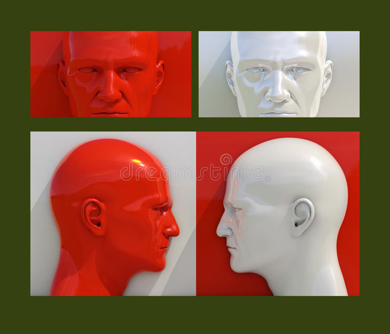 Pop Art Heads vektor illustrationer