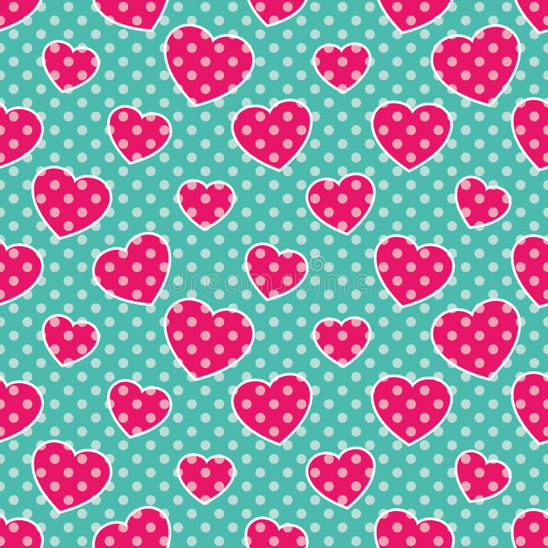 Pop-Art Hearts stock image