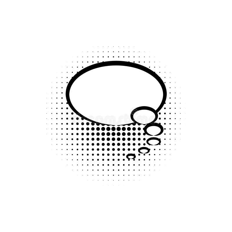 pop-art, het pictogram van de toespraakbel Element van ic van de toespraakbel het pictogram van de pop-artstijl Tekens en symbole royalty-vrije illustratie