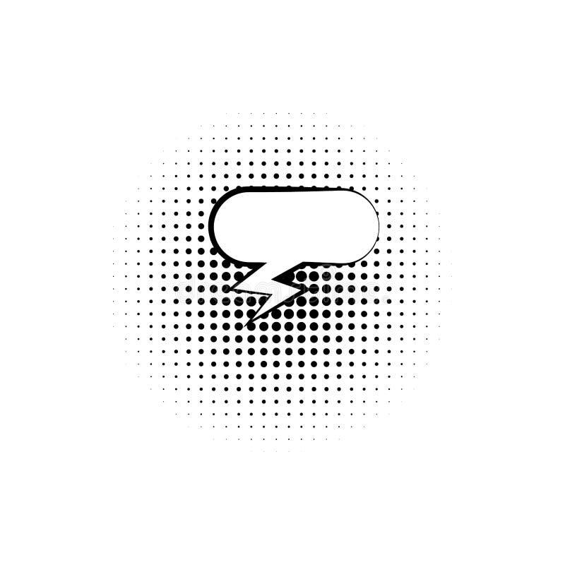 pop-art, het pictogram van de toespraakbel Element van ic van de toespraakbel het pictogram van de pop-artstijl Tekens en symbole vector illustratie
