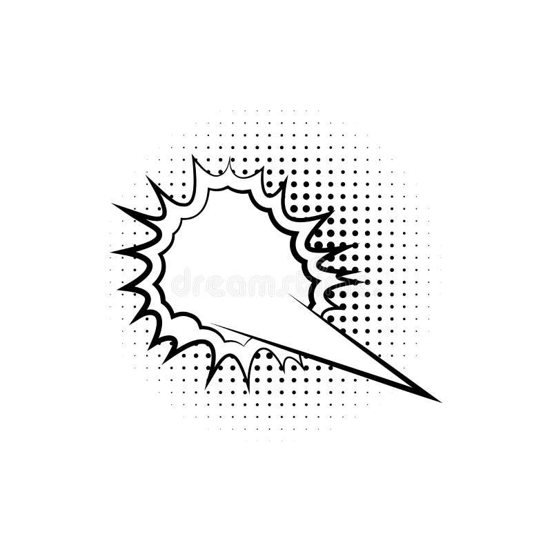 pop-art, het pictogram van de toespraakbel Element van ic van de toespraakbel het pictogram van de pop-artstijl Tekens en symbole stock illustratie