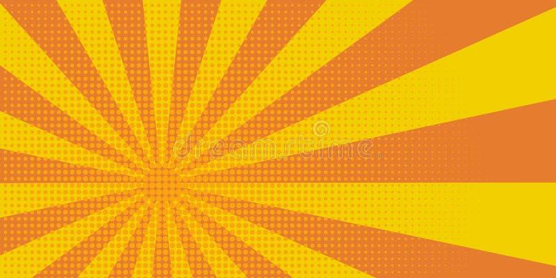 Pop-Art Hintergrund halftone halftone orange Abbildung Element der Pop-Art lizenzfreie abbildung