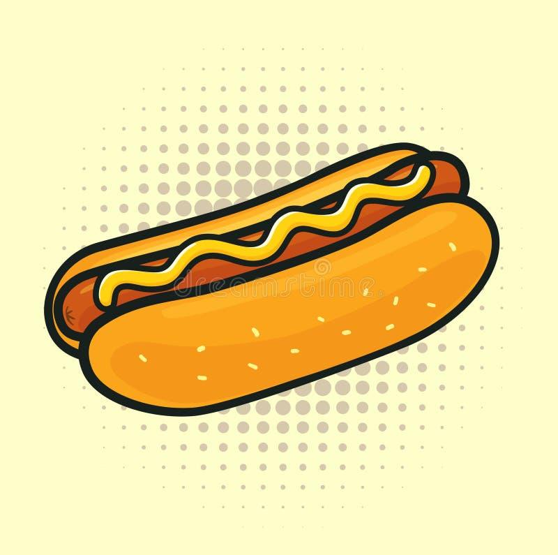 Pop Art hotdog stock illustration