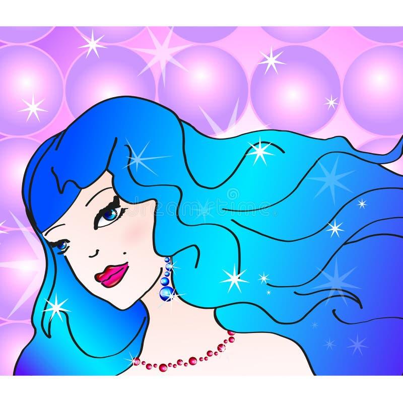 Pop art illustration of nice girl at the disco vector illustration