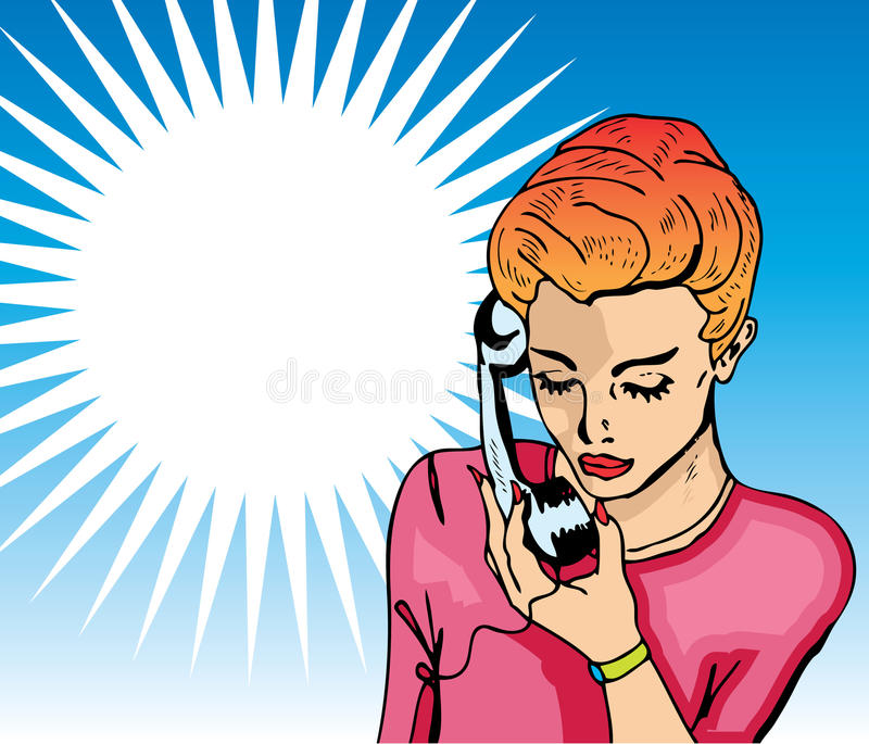 Download Pop Art  Illustration Of A Woman Stock Illustration - Illustration: 18530347
