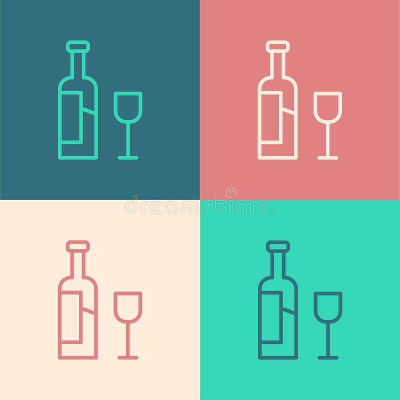 Minimalist Wineglass Logo: Line Art Wine Bottle Stock Illustrations 5,168 Line Art