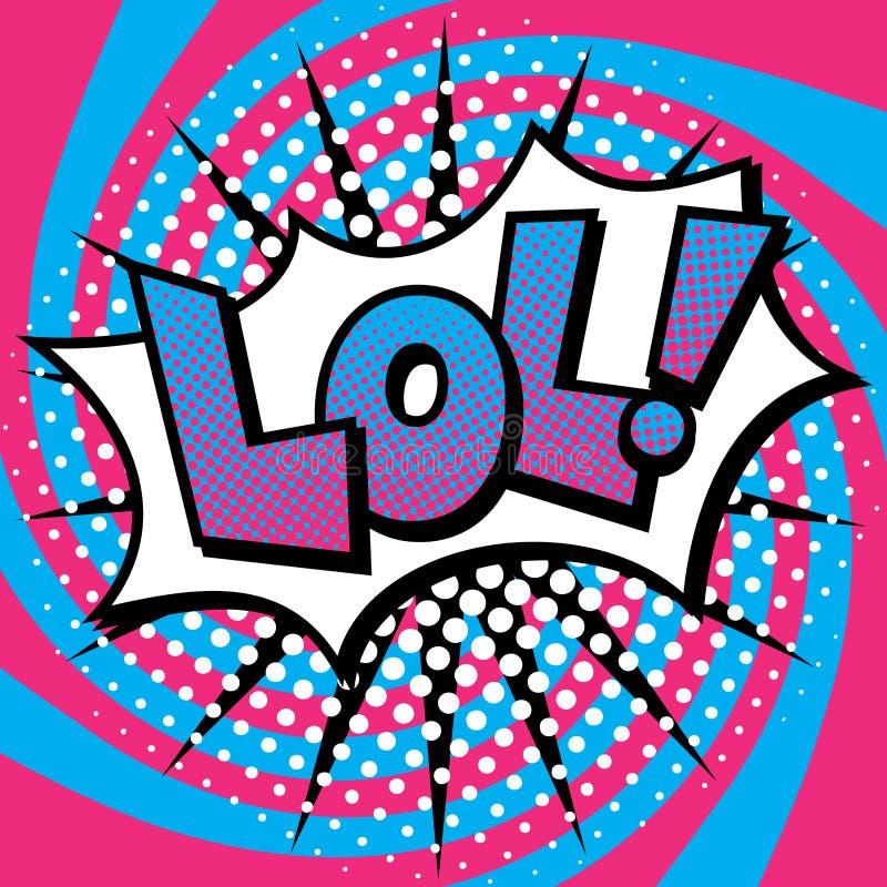 Pop Art LOL Text Design stock illustrationer