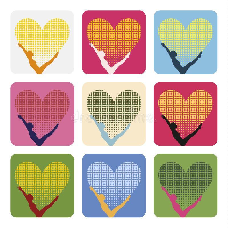 Download Pop-art-love-pilates stock vector. Illustration of healthy - 39505989