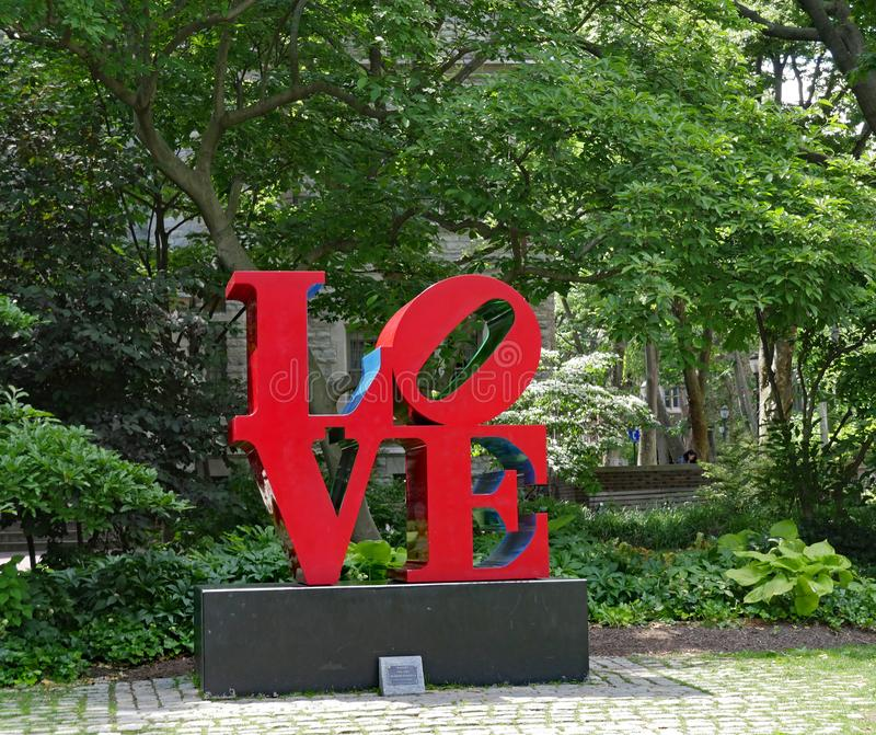 Pop art Love sculpture by Robert Indiana royalty free stock image