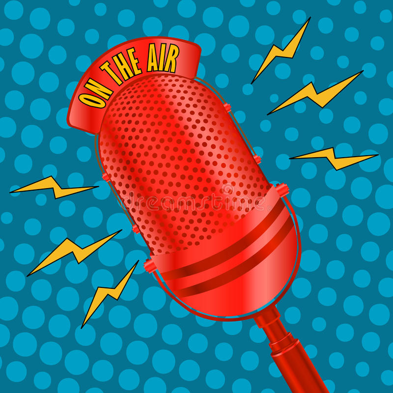 Pop art microphone vector illustration