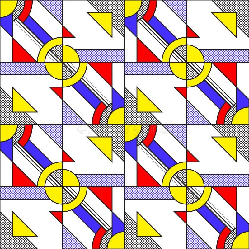Pop Art Pattern stock illustrationer