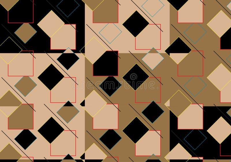 Pop Art Rhombus Pattern vector illustratie